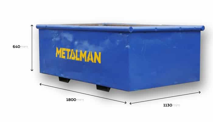 medium scrap metal bin