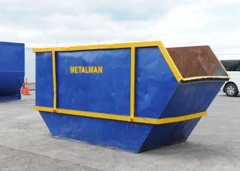 scrap metal bin